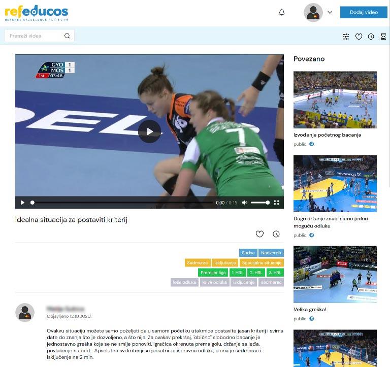 Objavljivanje javnih videa sa naslovom i opisom svake situacije